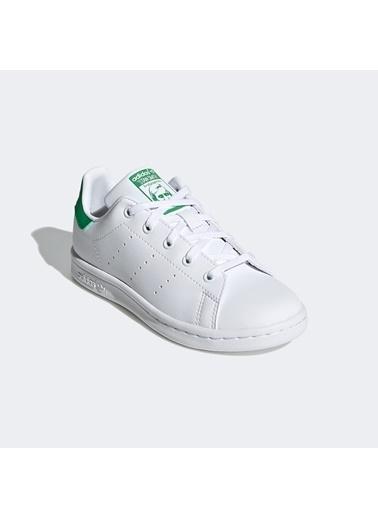 adidas Unisex Çocuk Stan Smith Sneakers FX7524.Beyaz Beyaz